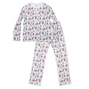 HART + LAND Women's pima cotton PJ set - winter penguins