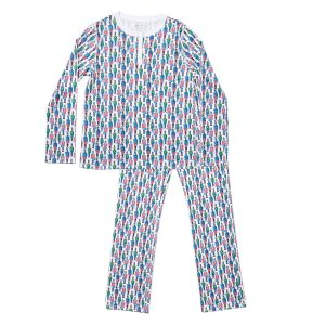 HART + LAND women's organic pima cotton pj set - holiday soldiers