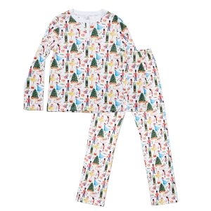 HART + LAND Women's Pima Cotton PJ Set - traditional christmas