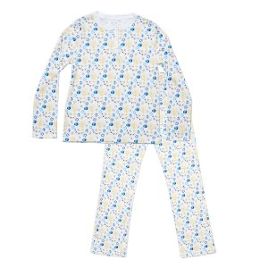 HART + LAND Women's organic pima cotton PJ Set - Hanukkah