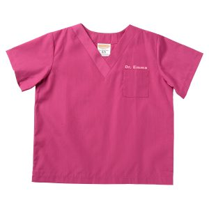 Aeromax Toddler/Big Kid Jr. Doctor Scrubs - Fuschia