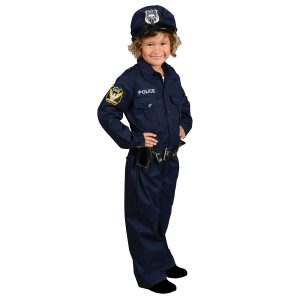 Aeromax Toddler/Big Kid Jr. Police Officer Suit with Cap & Belt