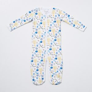 HART + LAND Baby/Toddler pima cotton footed bodysuit