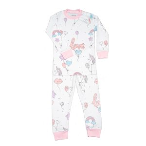 Baby Noomie Two Piece PJ Set Balloons