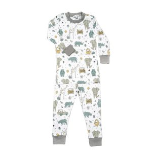 Baby Noomie Two Piece PJ Set Safari