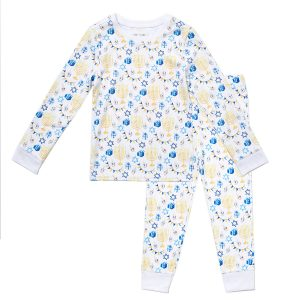 HART + LAND Toddler/Big Kid Pima Cotton PJ Set - Hannukah