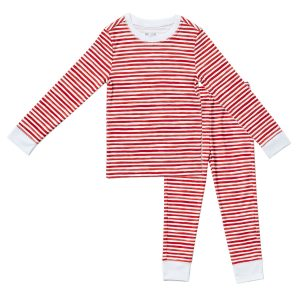 HART + LAND toddler/big kid organic pima cotton PJ set - painted stripes