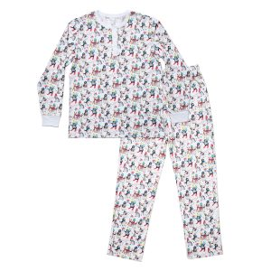 HART + LAND Men's Pima Cotton PJ Set - Winter Penguins