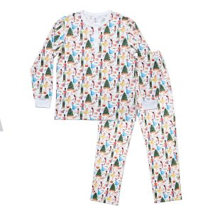 HART + LAND Men's organic pima cotton pj set - traditional christmas