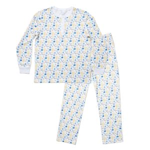 HART + LAND Men's Organic Pima Cotton PJ Set - Hanukkah