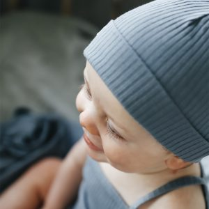 Lovely Littles Ribbed Hat Midnight