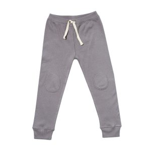HART + LAND Baby/Toddler/Big Kid Organic Ribbed Jogger Storm Front
