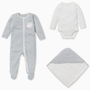 MORI Baby Soak & Sleep Gift Set - Blue Stripe