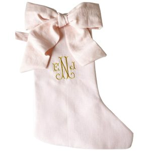 Storybook Goods Luxe Bow Christmas Stocking