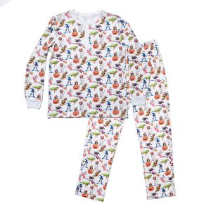 HART + LAND Men's Organic Pima Cotton PJ Set - Halloween Pups