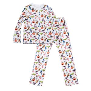 HART + LAND Women's Organic Pima Cotton PJ Set - Halloween Pups