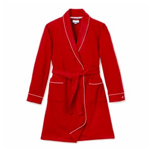 Petite Plume Adult Red Flannel Robe