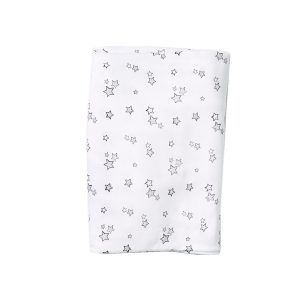 HART + LAND Organic Fitted Crib Sheet - Galaxy Stars print