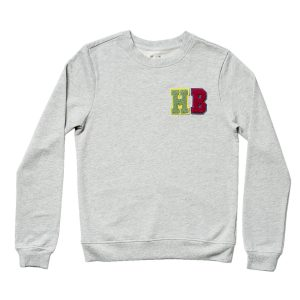 HART + LAND Women's Organic Personalized Sweatshirt- Colored Patches