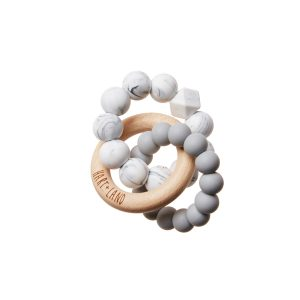 HART + LAND Double Silicone Teether Grey