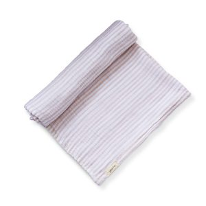 Pehr Stripes Away Swaddle Petal