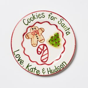 Caroline & Co Cookies For Santa Plate