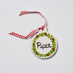 Caroline & Co Wreath Ornament Flat