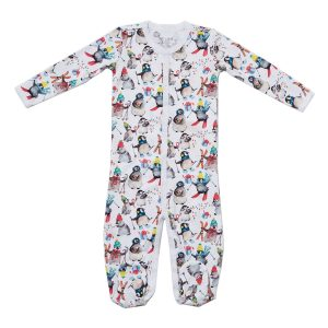 HART + LAND 6-12 Months Organic Pima Cotton Bodysuit - Penguins