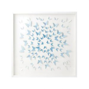 Cait Kids Blue Square Ombre Butterflies