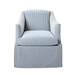 Cait Kids Taylor Swivel Chair - Blue Stripe
