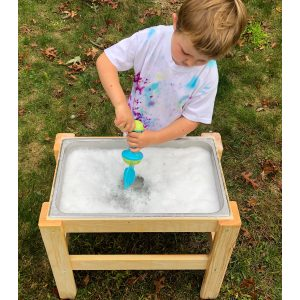 The Monarch Studio Stainless Steel Sensory Bin Stand