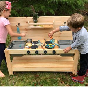 The Monarch Studio Outdoor/Indoor Double Sink Mud Kitchen