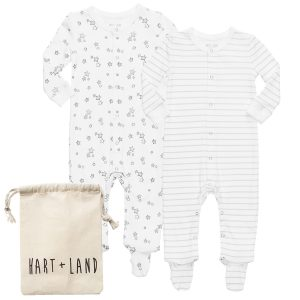 HART + LAND Pima Cotton Footed Bodysuits