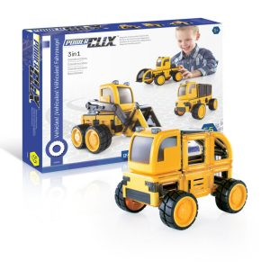 Guidecraft PowerClix Construction Vehicles Set