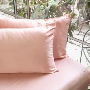 ettitude Bamboo Lyocell Fitted Sheet Cloud Pink