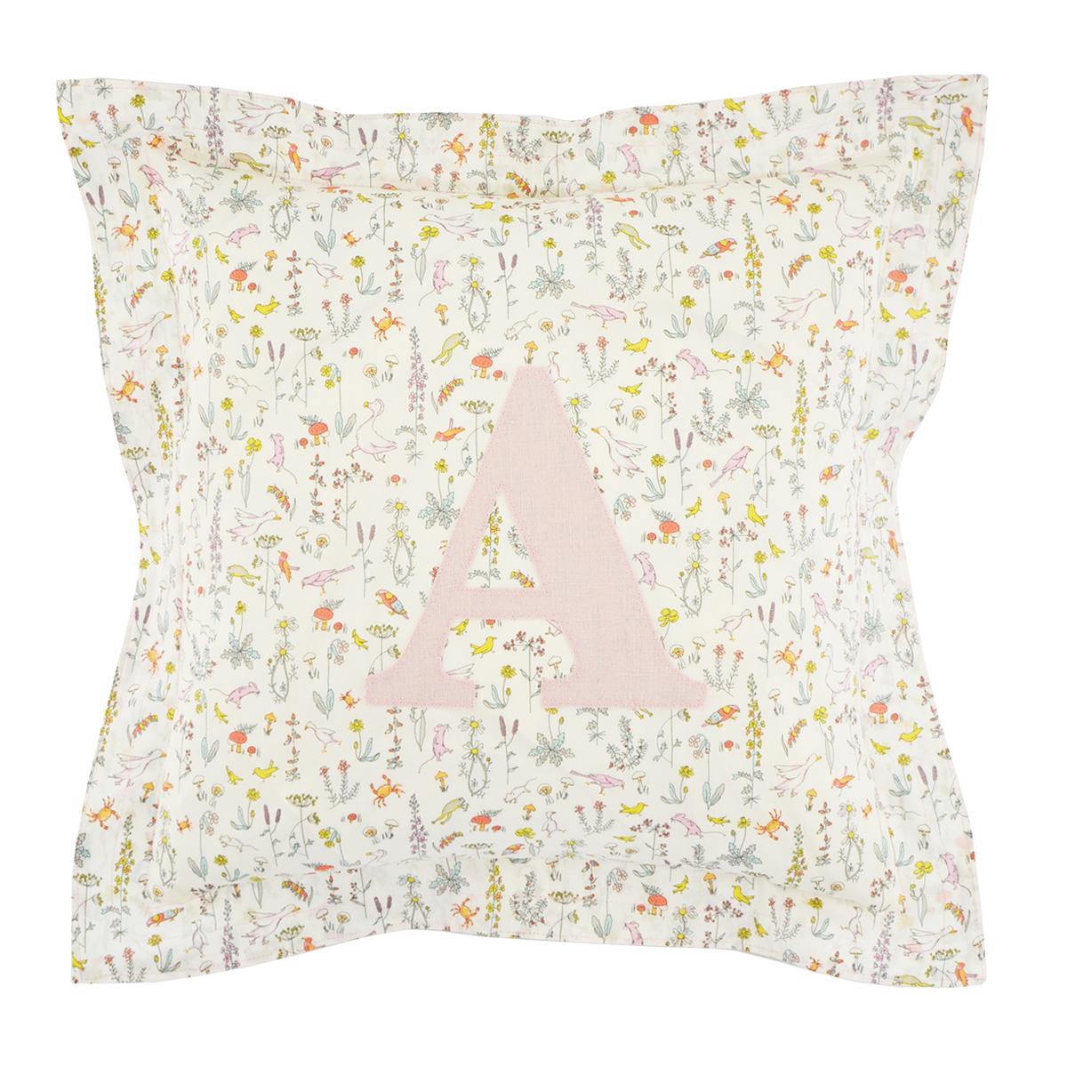 Coco & Wolf Liberty Fabric Personalized Pillow – Theo Pink