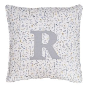 Coco & Wolf Liberty Fabric Personalized Pillow – Theo Blue