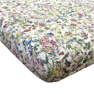 Coco & Wolf Liberty Fabric Fitted Crib Sheet – Wild Flowers