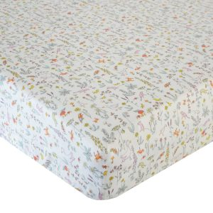 Coco & Wolf Liberty Fabric Fitted Crib Sheet – Theo Pink