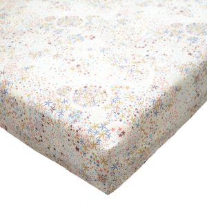 Coco & Wolf Liberty Fabric Fitted Crib Sheet – D'Anjo Mustard