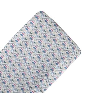 Coco & Wolf Liberty Fabric Changing Pad – Queue for the Zoo Blue