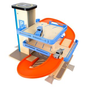 Small Foot Multi-Level Parking Garage Complete Playset