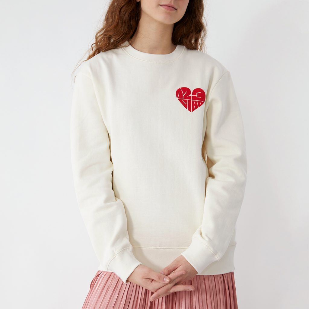 1,2,3 Ciao Crewneck - Natural with Scarlett Logo