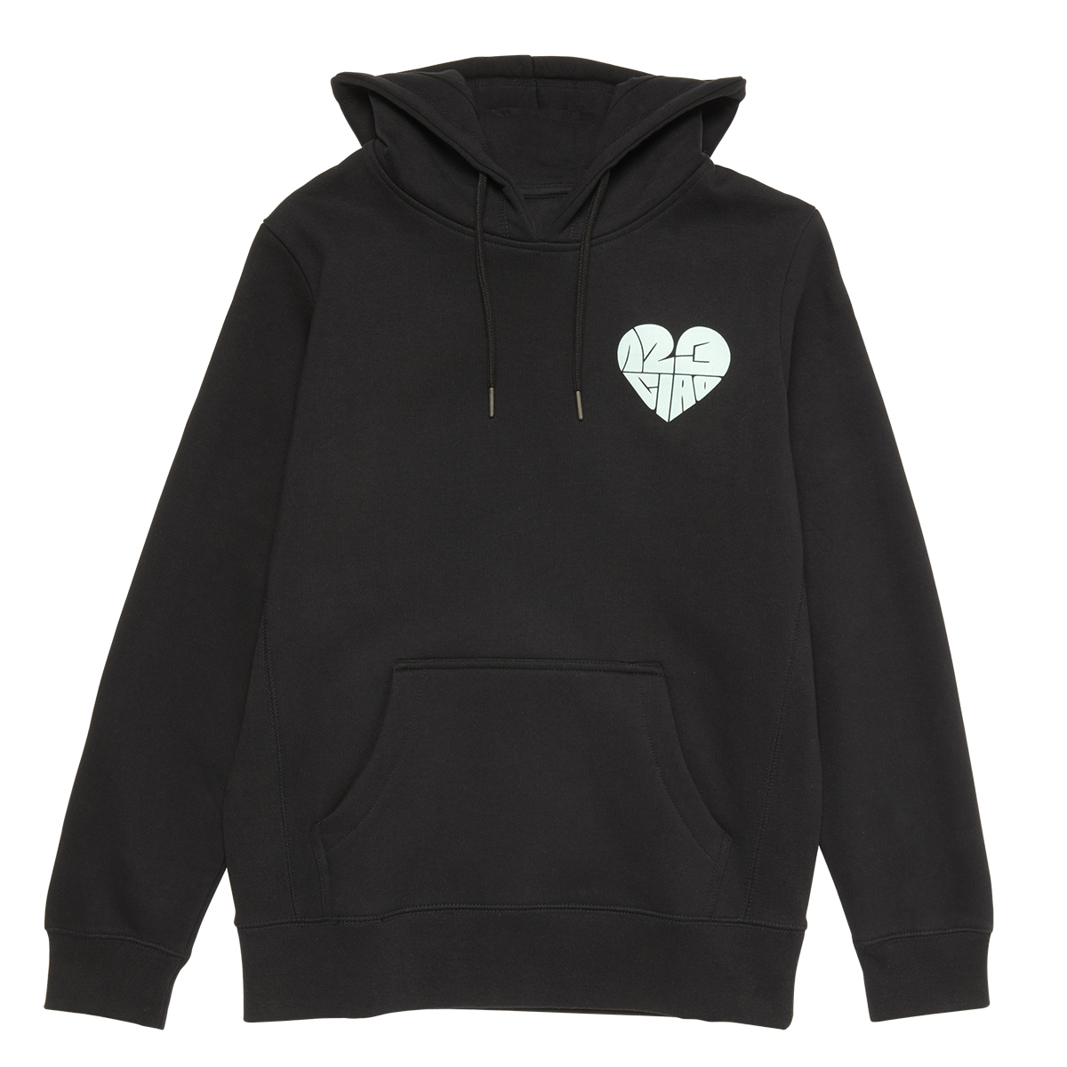 1,2,3 Ciao Hoodie - Black with Mint Logo
