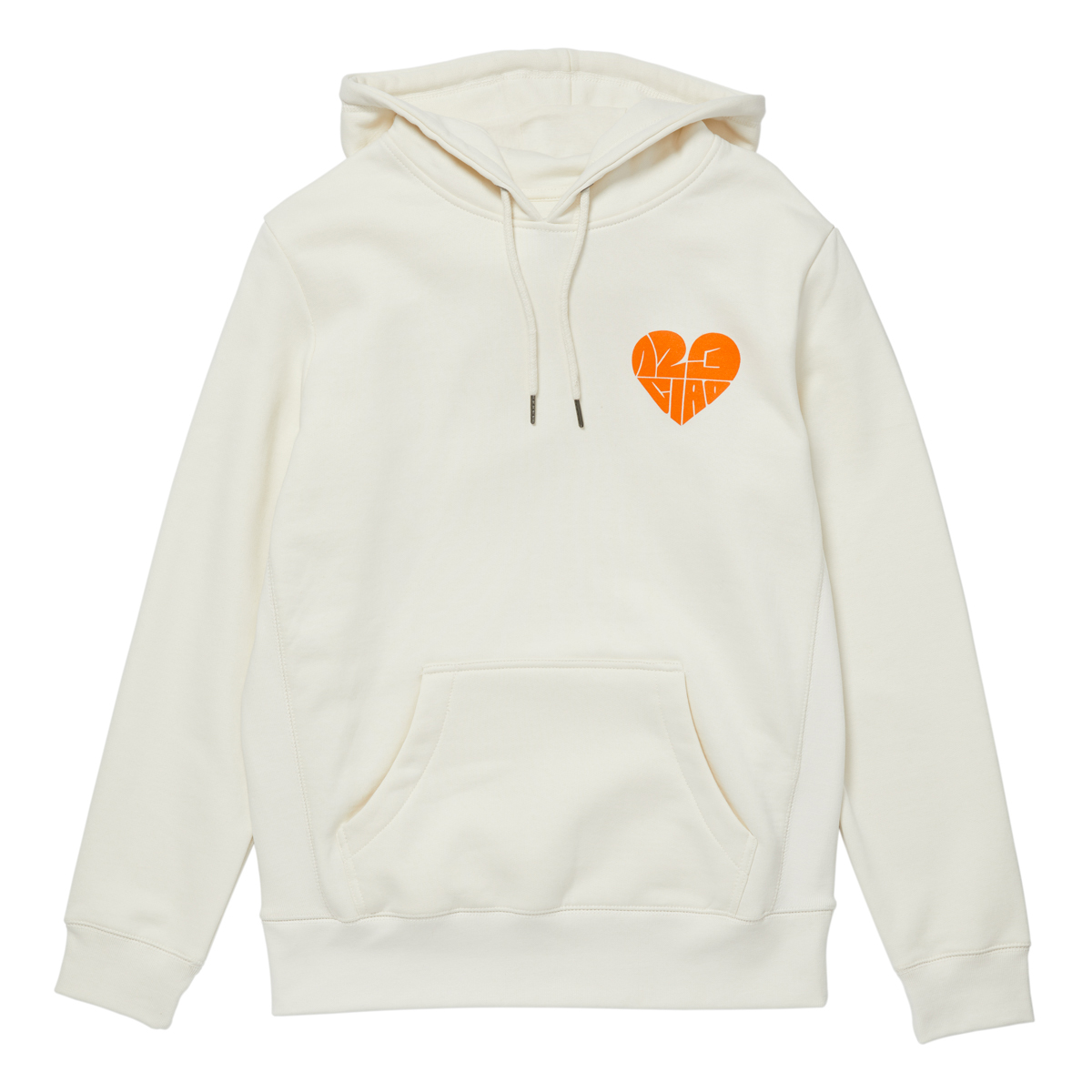 1,2,3 Ciao Hoodie - Natural with Orange Logo