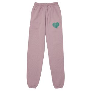 1,2,3 Ciao Sweatpants - Lavender with Sage Logo