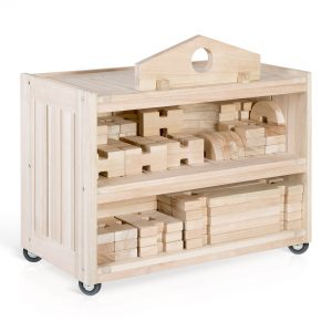 Guidecraft Notch Blocks Storage Cart