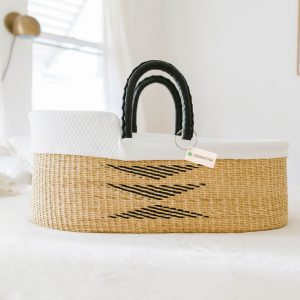 Design Dua Bilia Bassinet with Organic Insert – Natural & Black
