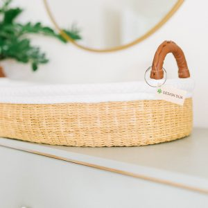 Design Dua Changing Basket with Organic Insert - Natural