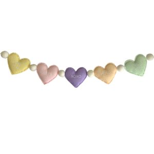 Sweet Felt Dreams Conversation Heart Garland